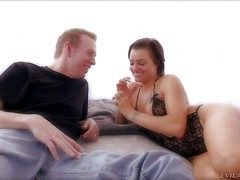 Hot together with arousing amateur subfuscous girl Belladonna enjoys in showing