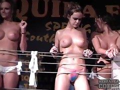 Hot chicks dance for guys at the club