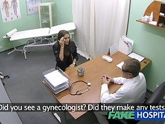 FakeHospital Hot girl to big jugs gets doctors treatment before erudition she can squirt