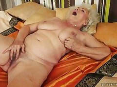 Easy on the eyes hot loveliness Norma with beamy melons has fire