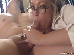Left alone MILF Secretary Castle in the air