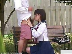 Cute Japanese Girl  In Hidden cam Sex Outdoor