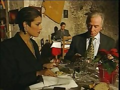 Elegant Italian Mature hotwife spouse on restaurant