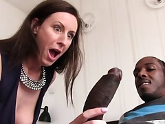 Lara Spandex Quenches Her Hunger For Dark-hued Man sausage