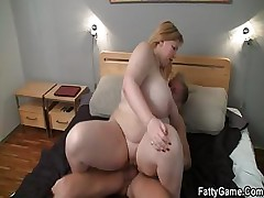 Hard hump with fatty after rubdown