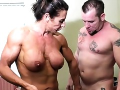 Nude Doll Bodybuilder Romps and Deep throats Shaft